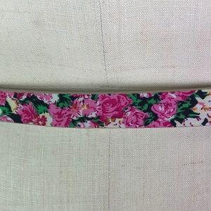 pieces Accessories - pieces pink floral belt EU 95